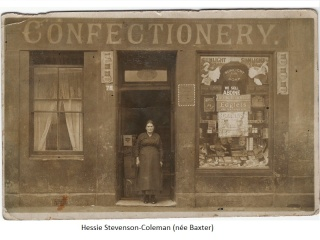 Hessie Coleman (prev. Stevenson) and her Shop