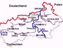 Map of Northern Bohemia